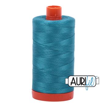 Aurifil 50wt Cotton Thread Large Spool 1300m 4182 Dark Turquoise