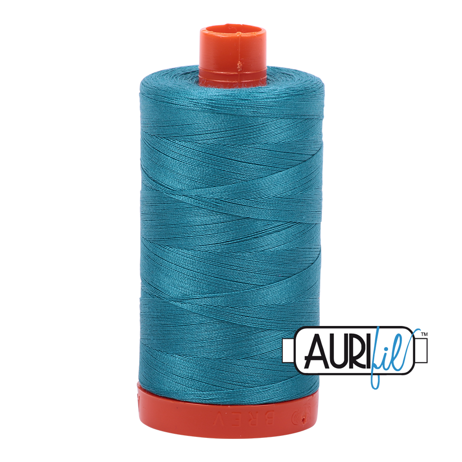 Aurifil 80wt Cotton Thread Large Spool 1300m 4182 Dark Turquoise