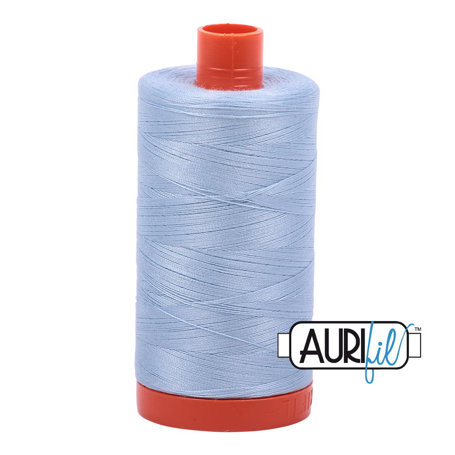 Aurifil 80wt Cotton Thread Large Spool 1300m 2710 Light Robins Egg