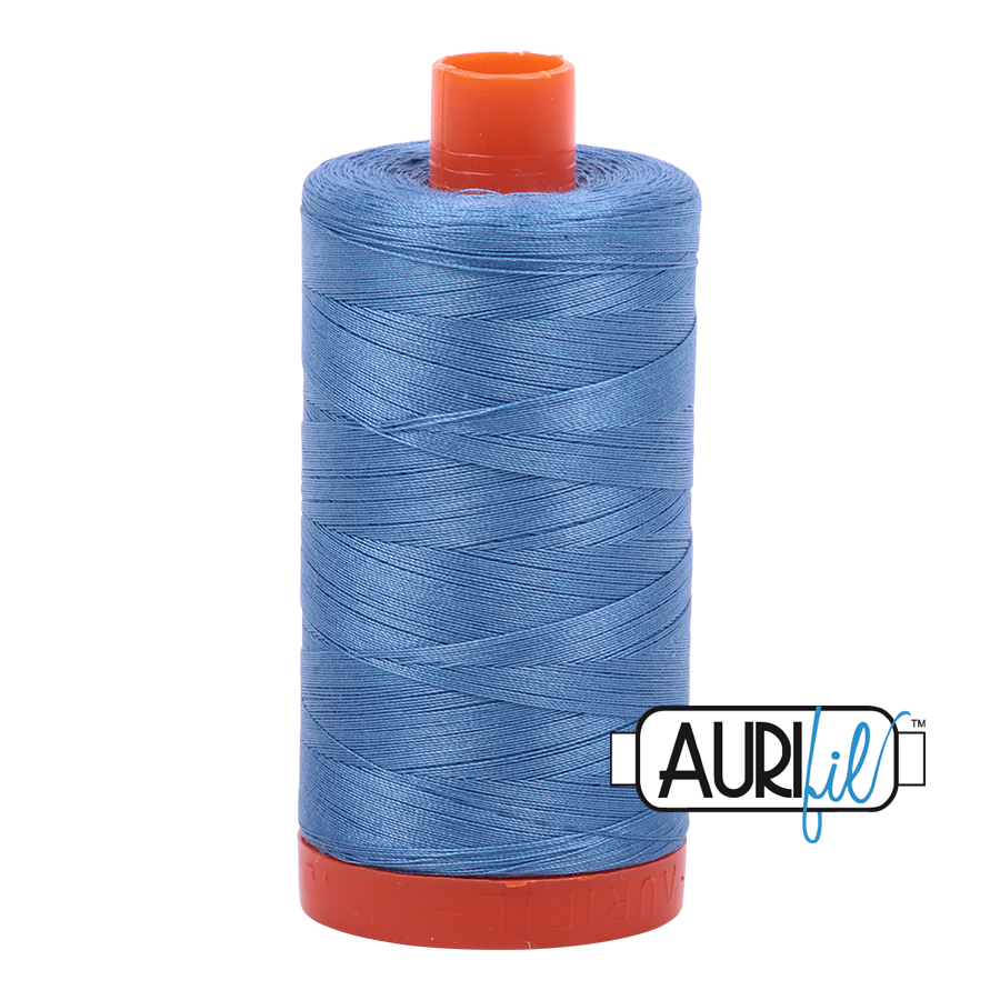 Aurifil 80wt Cotton Thread Large Spool 1300m 2725 Light Wedgewood