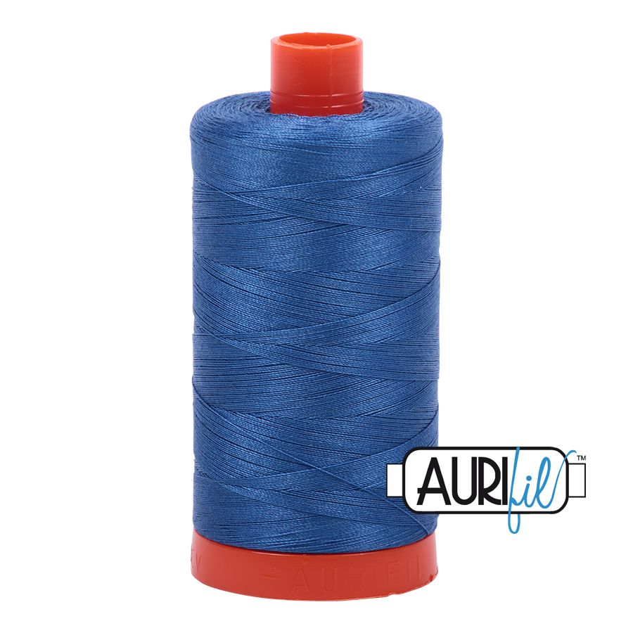Aurifil 80wt Cotton Thread Large Spool 1300m 2730 Delft Blue