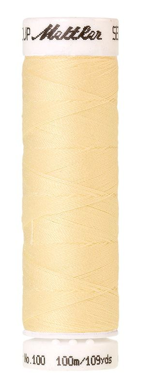 Mettler Seralon 100m Universal Sewing Thread 0129 Vanilla
