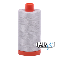 Aurifil 50wt Cotton Thread Large Spool 1300m 2615 Aluminium
