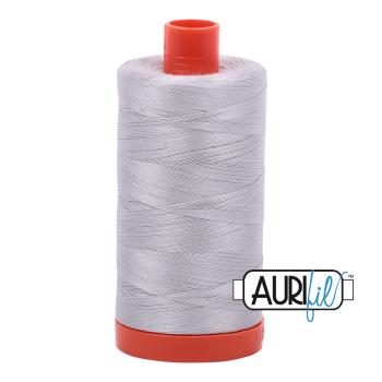 Aurifil 50wt Cotton Thread Large Spool 1300m 2615 Aluminium
