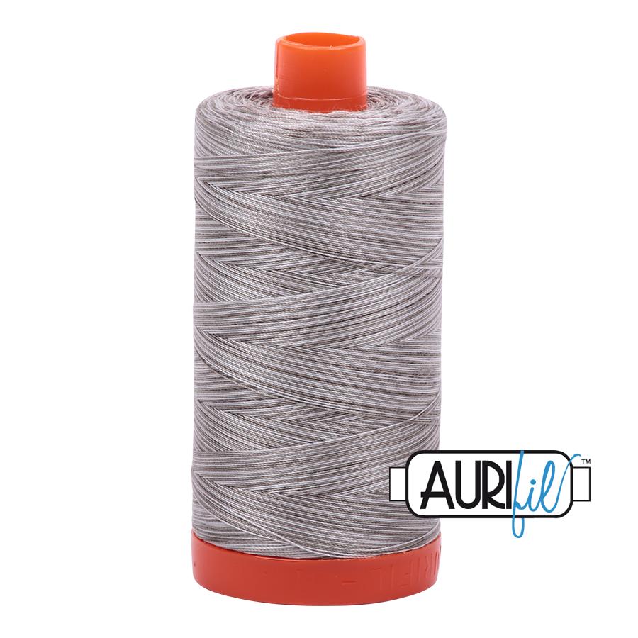 Aurifil 50wt Cotton Thread Large Spool 1300m 4670 Silver Fox