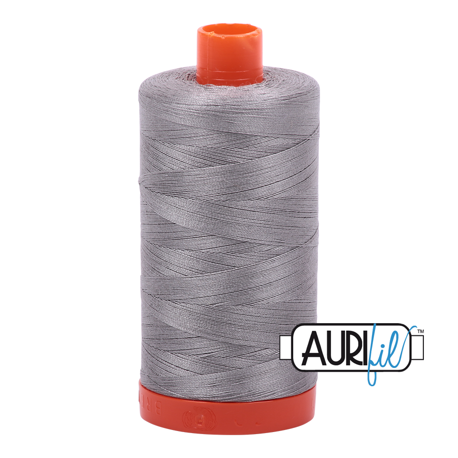 Aurifil 50wt Cotton Thread Large Spool 1300m 2620 Stainless Steel