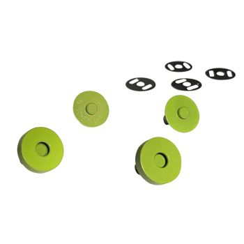 Sassafras Lane Colourful Magnetic Snaps Hardware Lime for Bag and Purse Making - Set of 2