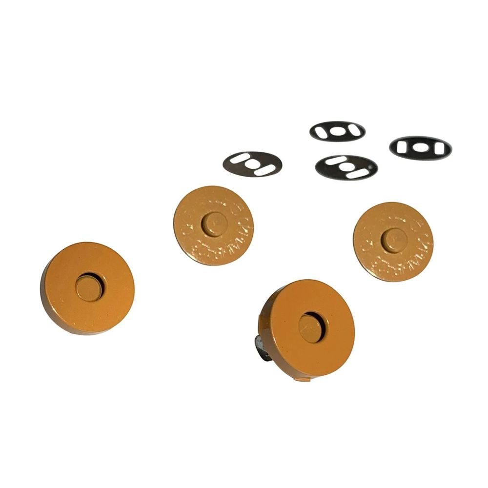 Sassafras Lane Colourful Magnetic Snaps Hardware Mustard for Bag and Purse