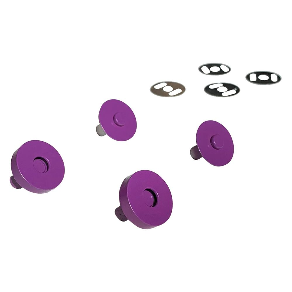 Sassafras Lane Colourful Magnetic Snaps Hardware Purple for Bag and Purse M