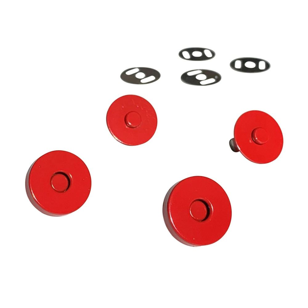 Sassafras Lane Colourful Magnetic Snaps Hardware Red for Bag and Purse Maki