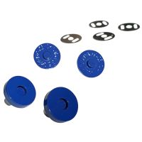 Sassafras Lane Colourful Magnetic Snaps Hardware Royal Blue for Bag and Purse Making - Set of 2
