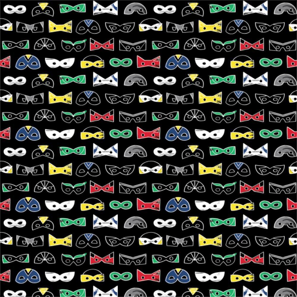 Half-Pint Heroes Masks Black Super Hero Mask Novelty Superhero Comics Cotto