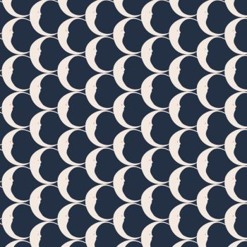 Night Circus Crescent Navy Moon Crescent Moons Smiling Moon Lunar Cotton Fabric