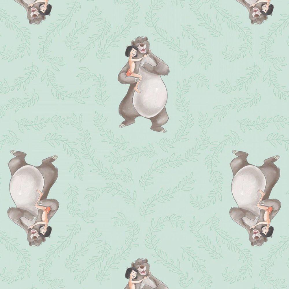 Disney Classics Sentimental Disney Jungle Book Baloo Mowgli Cotton Fabric
