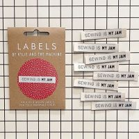 "Kylie and the Machine ""SEWING IS MY JAM"" Woven Labels 8 Pack"