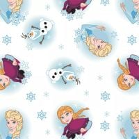 Disney Frozen Alpine Wonder Elsa Anna Olaf Princess Cotton Fabric