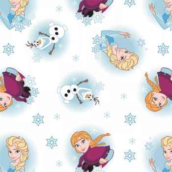 Disney Frozen Alpine Wonder Elsa Anna Olaf Princess Cotton Fabric