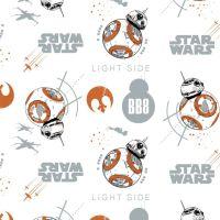 Disney Star Wars Last Jedi BB-8 Droids Portraits X-Wing Rebel Alliance Rebellion Cotton Fabric
