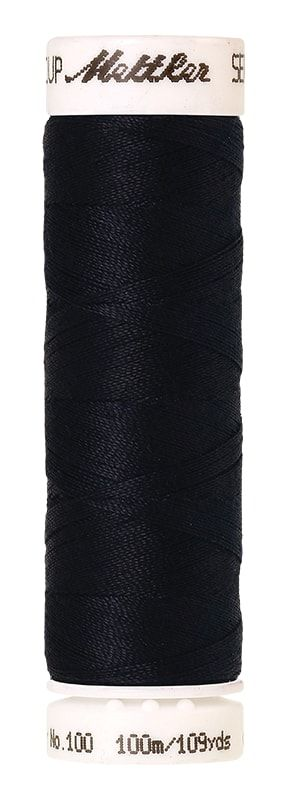 Mettler Seralon 100m Universal Sewing Thread 0821 Darkest Blue