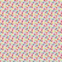 Paper Daisies Geometric Multi Rainbow Diamonds Cotton Fabric