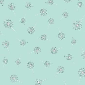 Paper Daisies Dandelion Mint Dandelions Seed Head Botanical Cotton Fabric