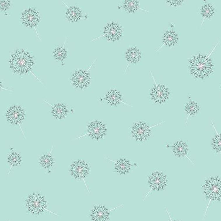 Paper Daisies Dandelion Mint Dandelions Seed Head Botanical Cotton Fabric