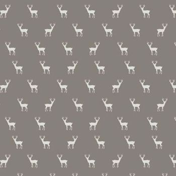 Golden Days Deer Taupe Tiny Stag Cotton Fabric