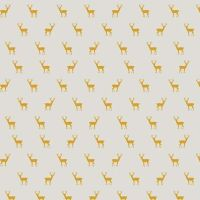 Golden Days Deer Cream Tiny Stag Cotton Fabric