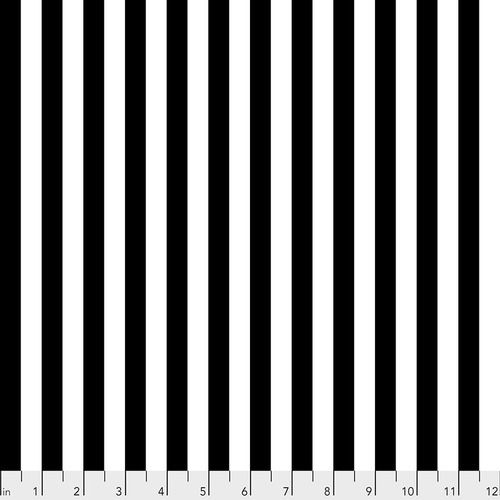 PRE-ORDER Tula Pink LINEWORK Tent Stripe Paper Black White Stripes Geometri