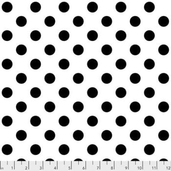 Tula Pink LINEWORK Pom Poms Paper Black White Spot Geometric Blender Cotton Fabric