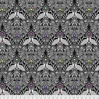 PRE-ORDER Tula Pink LINEWORK Tall Tails Ink Peacock Monochrome Cotton Fabric