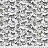 PRE-ORDER Tula Pink LINEWORK Read Between The Lines Paper Zebra Monochrome Cotton Fabric