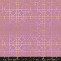 Stellar Moon Grid Lupine Geometric Metallic Gold Ruby Star Society Rashida Coleman-Hale Cotton Fabric