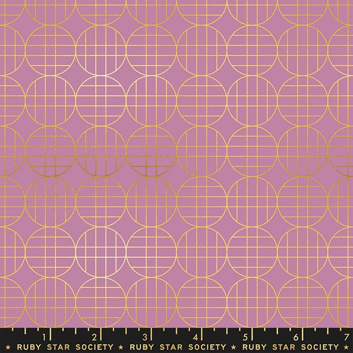 Stellar Moon Grid Lupine Geometric Metallic Gold Ruby Star Society Rashida