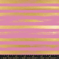 Stellar Zip Kiss Geometric Metallic Gold Stripe Ruby Star Society Rashida Coleman-Hale Cotton Fabric