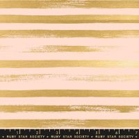 Stellar Zip Pale Peach Geometric Metallic Gold Stripe Ruby Star Society Rashida Coleman-Hale Cotton Fabric