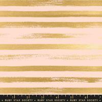 Stellar Zip Pale Peach Geometric Metallic Gold Stripe Ruby Star Society Rashida Coleman-Hale Cotton Fabric