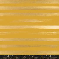Stellar Zip Goldenrod Geometric Metallic Gold Stripe Ruby Star Society Rashida Coleman-Hale Cotton Fabric