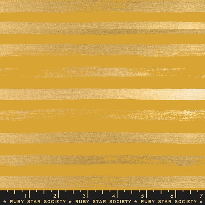 Stellar Zip Goldenrod Geometric Metallic Gold Stripe Ruby Star Society Rash