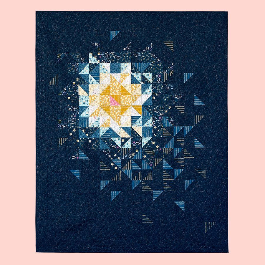 IN STOCK Stellar Comet Quilt Kit including Pattern and Fabric by Rashida Co