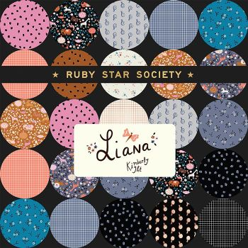 Liana & Grid Ruby Star Society Kim Kight Full Collection 16 Fat Quarter Bundle Cotton Fabric Cloth Stack