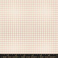 Grid Metallic Copper Cream Graph Paper Linear Ruby Star Society Kimberly Kight Cotton Fabric