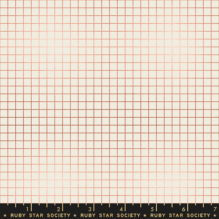 Grid Metallic Copper Cream Graph Paper Linear Ruby Star Society Kimberly Ki