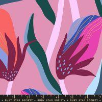 Airflow Bloom Kiss Metallic Floral Ruby Star Society Sasha Ignatiadou Cotton Fabric