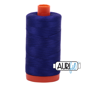 Aurifil 50wt Cotton Thread Large Spool 1300m 1200 Blue Violet