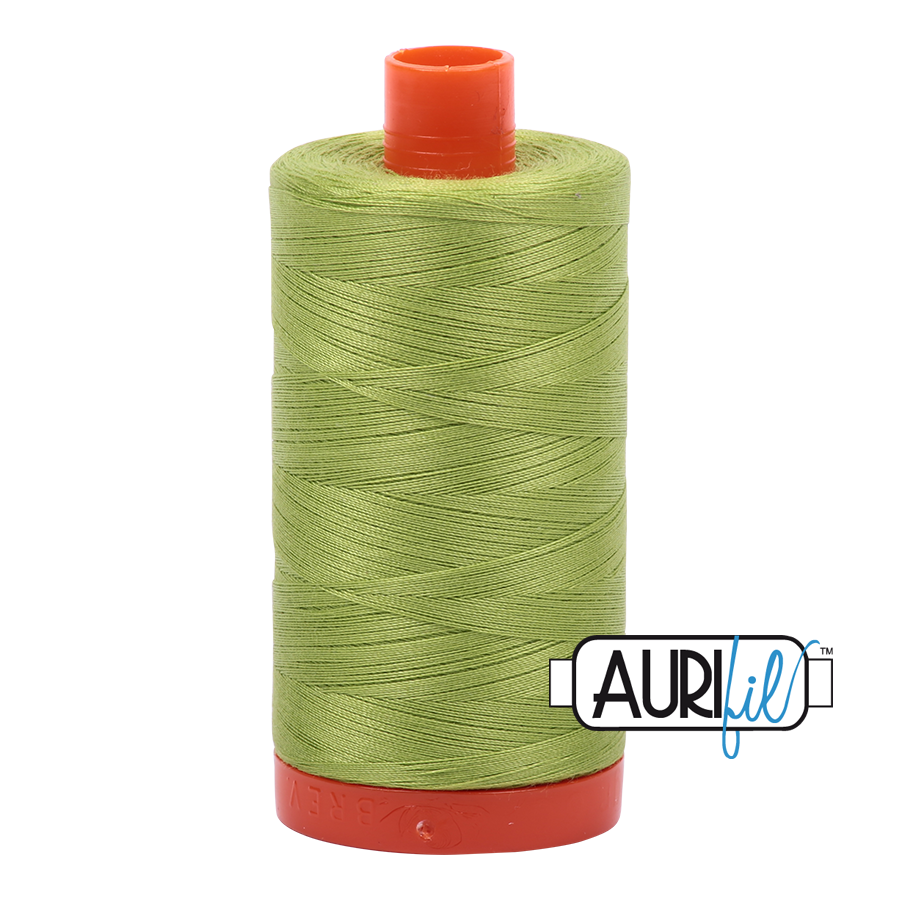Aurifil 50wt Cotton Thread Large Spool 1300m 1231 Spring Green
