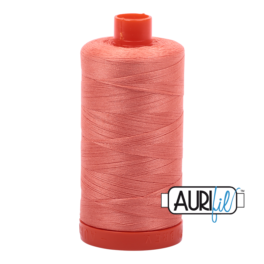 Aurifil 50wt Cotton Thread Large Spool 1300m 2220 Light Salmon