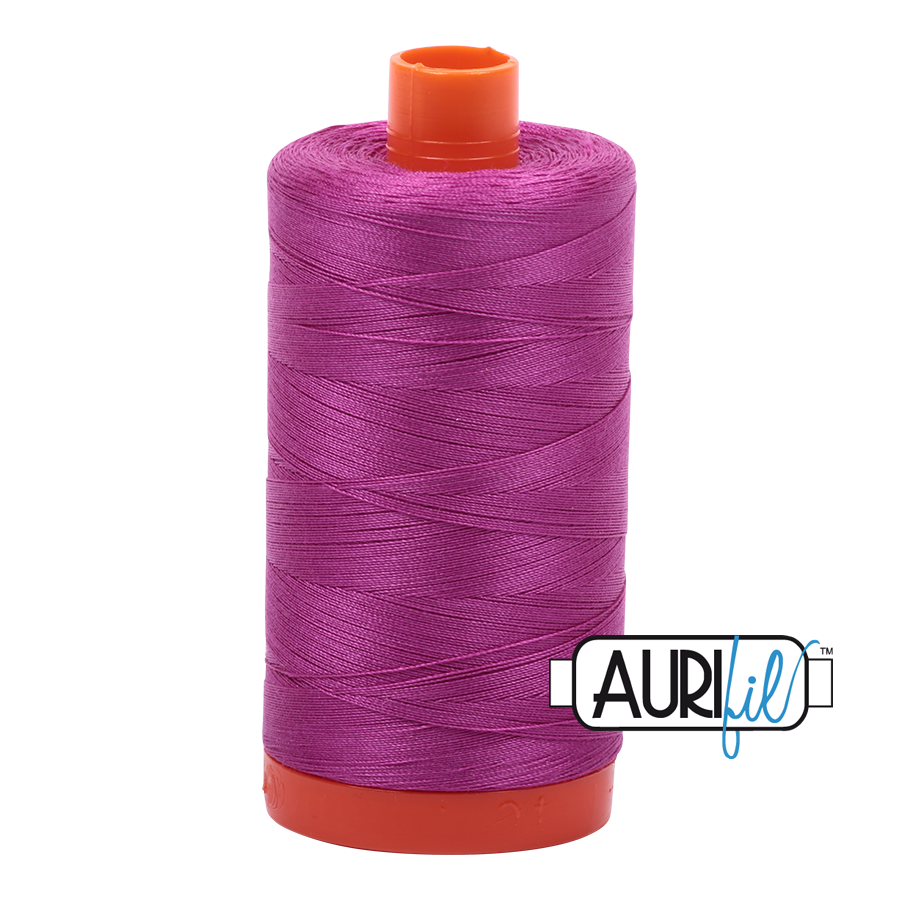 Aurifil 50wt Cotton Thread Large Spool 1300m 2535 Magenta