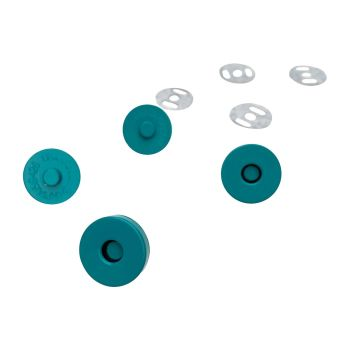 Sassafras Lane Colourful Magnetic Snaps Hardware Teal for Bag and Purse Making - Set of 2
