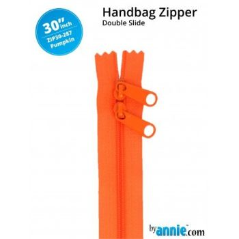 "By Annie 30"" Handbag Zipper Double Slide Pumpkin Zip"